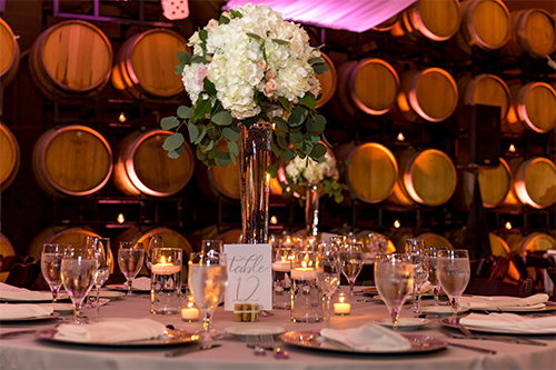 Barrel Room Wedding Photo